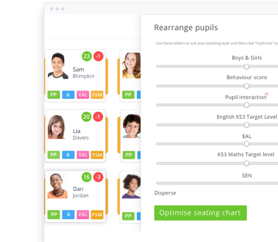 School Seating Planner & Behaviour Management Software: Class Charts